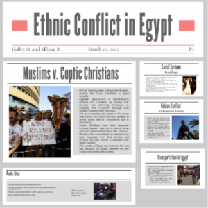 ethnic conflict in egypt