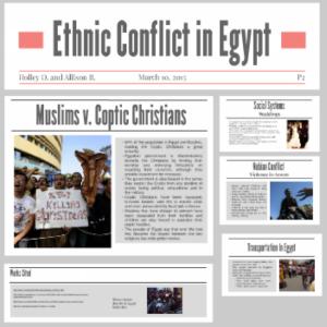 ethnic conflict in egypt